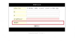 登録項目設定の利用項目 追加 登録フォーム
